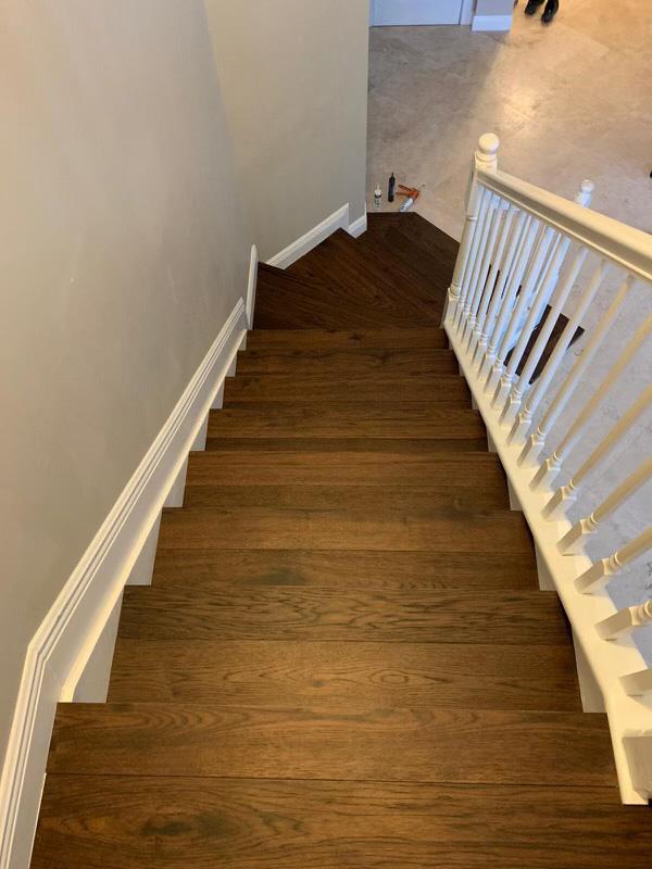 Coastline Sanibel Hickory stairs